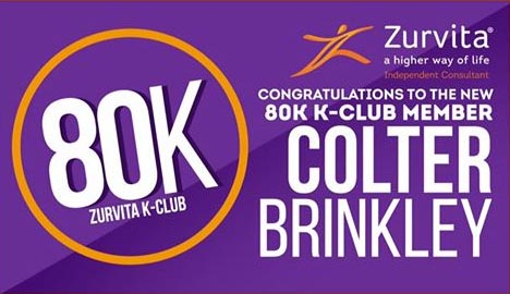 Colter Brinkley earned over $80,000 in one month with the Zurvita Business Opportunity!