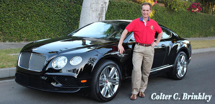 Colter Brinkley gets a new 2016 Bentley Continental GT V8 with the Zurvita Crown Ambassador Car Program.