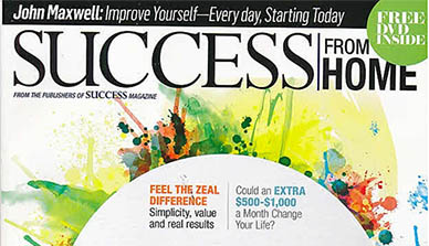 The Zurvita Business Opportunity is featured in the October 2015 issue of Success From Home magazine!