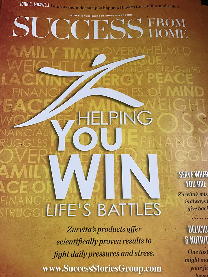Beau Zurvita Success From Home Magazine May 2017